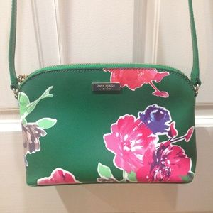 HP🎉 Kate Spade Green Floral Crossbody Purse Bag